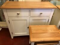 NEXT DAY DELIVERY New oak and ivory Standard sideboard £279