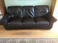 Quality 3 seater leather sofa