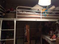Ikea Tromso white double loft bed
