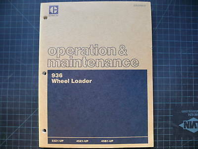 Cat Caterpillar 936 Wheel Loader Operation Owner Operator Maintenance Manual