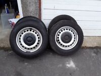 VW T5 Tyres On Rims