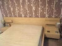 Malm double bed with bedside tables and optional mattress