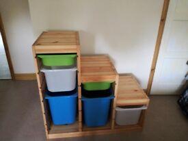 Solid Wooden storage unit