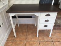 Vintage desk with retro cupped handles
