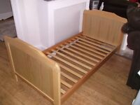 CHILD'S WOODEN BED