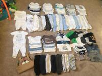 HUGE bundle baby boy clothes (newborn, upto1mnth, 0-3mnth, upto3mnth)