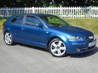 2005 (05) Audi A3 2.0 TDI S line Quattro | 12 MONTHS MOT | FULL HISTORY | NEW CAMBELT | DIESEL