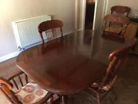 Carved wood family dining table
