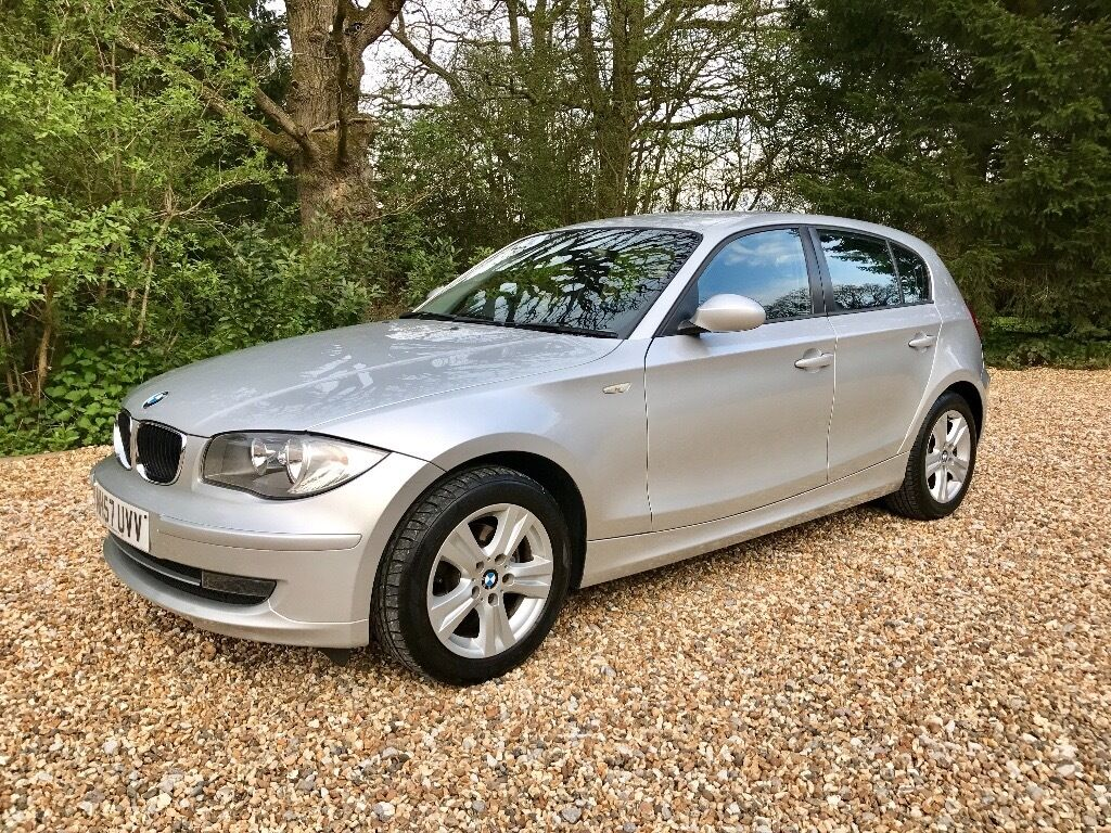 2008 57 plate bmw 1 series 116i se 5 door hatchback 1 6 petrol in silver in shirley west. Black Bedroom Furniture Sets. Home Design Ideas