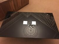 Black Glass Coffee Table *Excellent Condition*