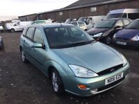 51 REG FORD FOCUS ZETEC CAME IN PX TODAY DRIVE AWAY A CHEAP RUNABOUT LONG MOT ANY TRIAL WELCOME