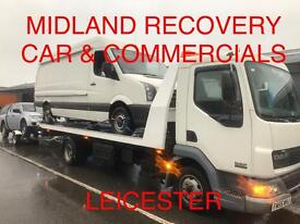Car & Van Transportation & Recovery Service Leicester. All light commercials 4x4s, Fully insured.