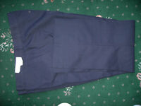 """BRAND NEW, NEVER WORN, nor TRIED ON, EXCELLENT QUALITY MENS NAVY BLUE WORK TROUSERS & TAG, 38"""" WAIST"""