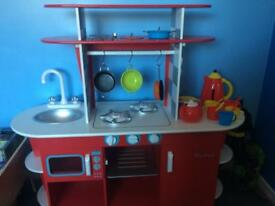 Children's wooden kitchen