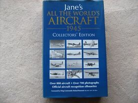 """Book JANE's """"ALL THE WORLD'S AIRCRAFT 1945 COLLECTORS EDITION"""