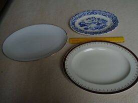China meat plates x 3 £5 each of £12 for all three