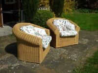 High quality pair of wicker chairs