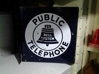 Double Sided Flange Telephone Sign