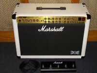 Marshall TSL122 valve combo 100 watt 2 x 12 Marshall Celestion G12 speakers white vinyl