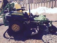 John Deere Ztrak ride on lawnmower