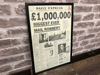 Daily Express Framed Print