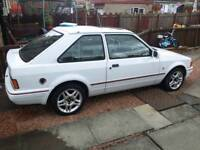 1989 ford escort xr3i needs welding obviously..... winter resto project