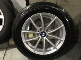 ALLOYS X 1 OF 17 INCH BRAND NEW BMW X3 4X4 ALLOY WHEEL SILVER WITH A AS NEW BRIDGESTONE TYRE FITTED