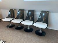 Retro mid century chairs by Chromcraft