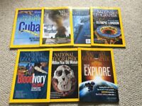 National Geographic magazines x 7