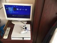 LOOK WHITE SLIM 500GB PS4 WITH 4 GAMES