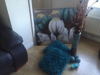 Canvas, cushions and accessories all in good condition lovely colours