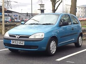 2003 (Sep 53) VAUXHALL CORSA 1.0i 12V CLUB - 3 Door Hatchback - Petrol - Manual - BLUE * LONG MOT *