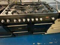 Black cannon 100cm dull full cooker grill & double fan assets ovens with guarantee