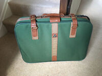 Caravel Green Canvas Suitcase