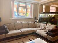 Large Comfy Mocha/Brown Corner Sofa