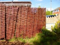 Willow fencing panels