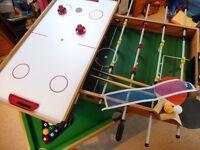 4 in 1 Games Table Football, Pool, Hockey & Tennis