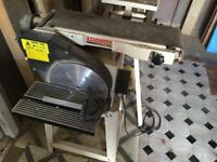 "Sander belt and 10"" disc complete with floor stand"
