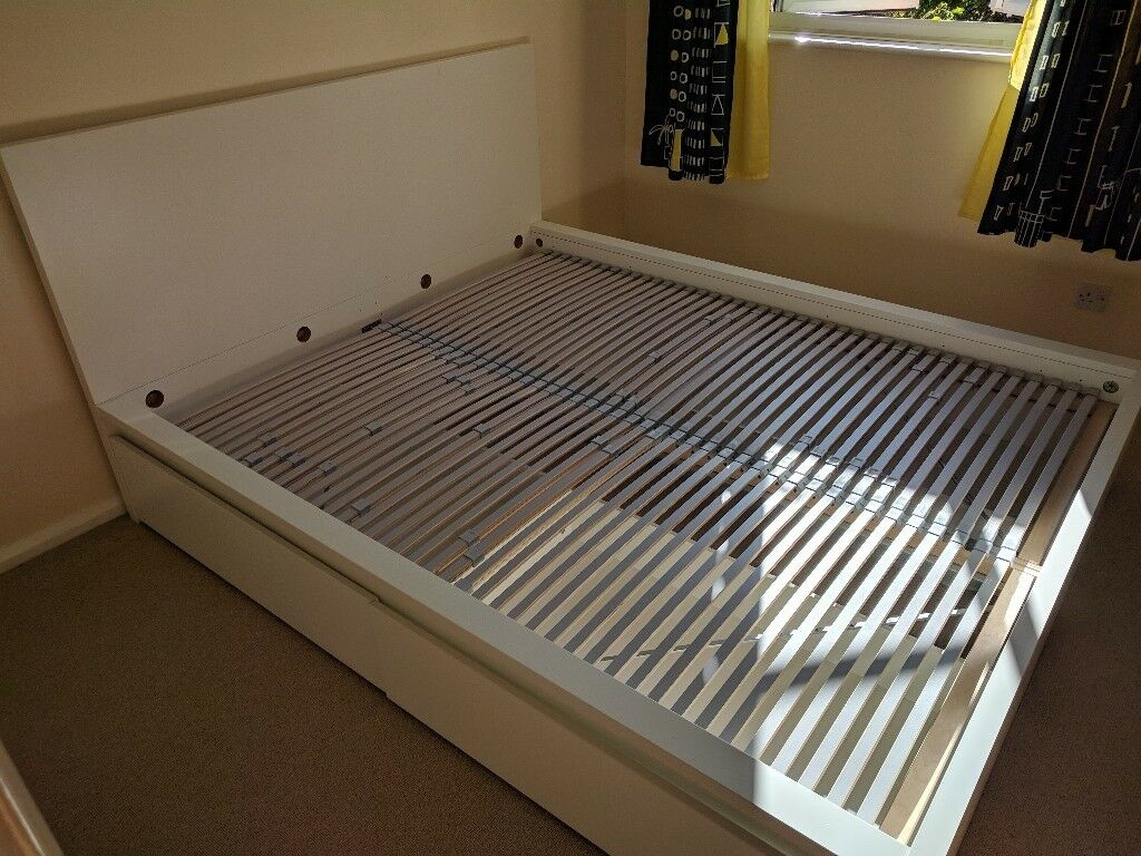 Malm Bed Frame Drawers Amp L 214 Nset Slatted Bed Base Ikea