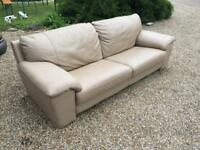 Large 3 seater leather sofa