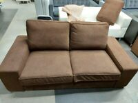 IKEA As-Is - KIVIK Two-seat sofa, Dark/Brown #BARGAINCORNER#