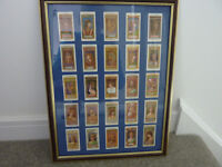 Framed Original 1912 Players Cigarette Cards - Egyptian Kings & Queens & Classical Deities