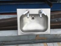 3 Reclaimed Small Stainless Steel Sinks £30 Each Or 3 For £70 Ono