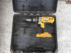 Dewalt DC925 18v Cordless Drill with 2 Batteries, Charger & Case