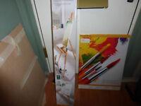 Oiled Beechwood Easel and 2 packs of 10 Canvass Blocks