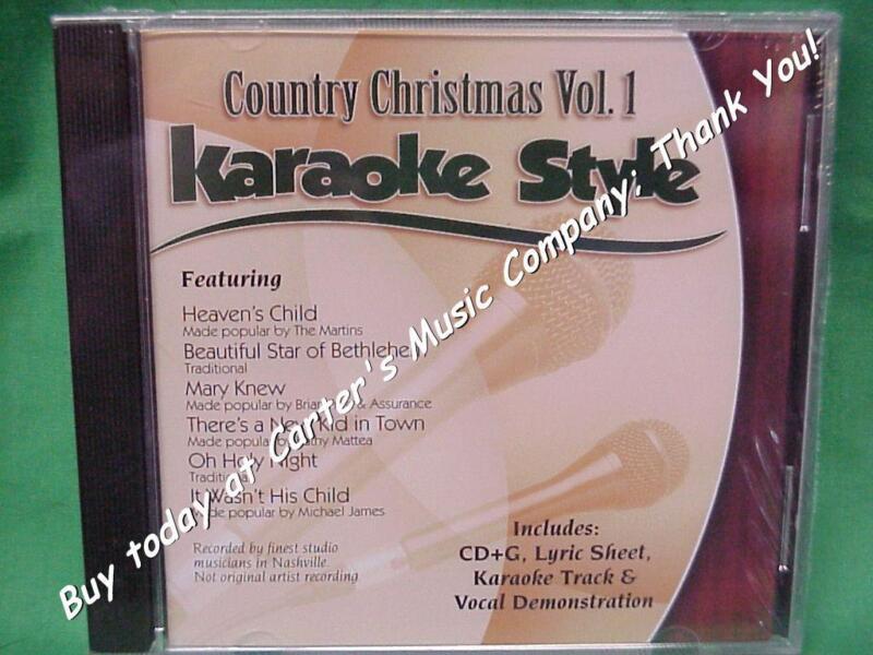 Country Christmas  Volume #1  Christian  Daywind  Karaoke Style  CD+G  Karaoke