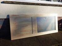 Brand new pine half glazed internal door from B&Q, still in wrapping.