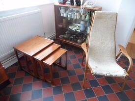 G-Plan 20th Century Teak Nest of Three Tables Mid Century Modern Retro Occasional Mid Century Modern
