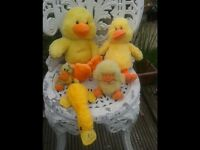 SOFT TOYS FOR SALE. YELLOW DUCKS. BEDROOM. NURSERY. KITCHEN. LOTS OF SOFT TOYS FOR SALE COLLECTABLE