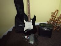 Electric Guitar plus amp (LEFT HANDED)